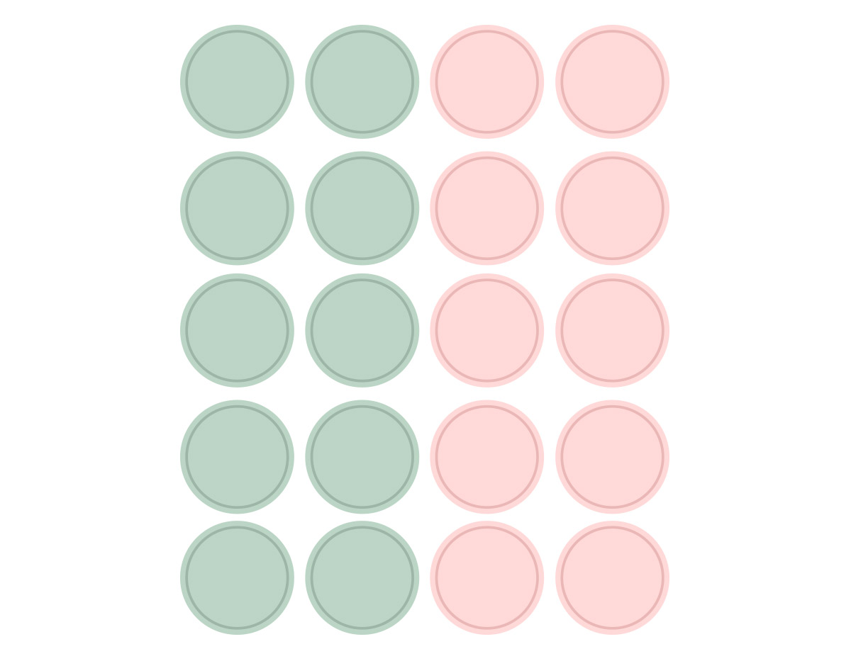 DSTC41 Pegatinas papel redondas solid 02 en hojas Dailylike