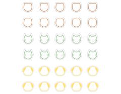 DSTC47 Pegatinas papel animal line 02 en hojas Dailylike