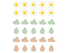 DSTC62 Pegatinas papel climatologia 02 en hojas Dailylike