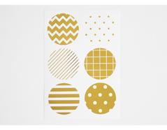 DTS06 Etiquetas papel adhesivas pattern oro disenos surtidos Dailylike