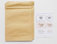 DZB02 Set 3 sobres papel kraft con etiquetas Dailylike