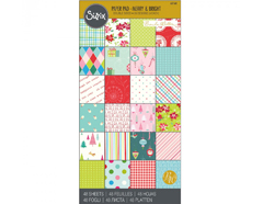 E651160 Set 48 papeles doble cara surtidos Merry and Bright by Brenda Walton Sizzix