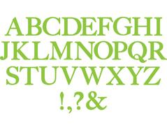 E655128 Troquel BIGZ Alfabeto completo serif essentials by EL Smith Sizzix