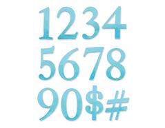 E656616 Set 2 troqueles BIGZ Numeros by E L Smith Sizzix