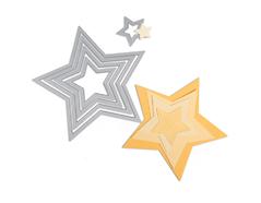 E657567 Set 5 troqueles FRAMELITS Estrellas Sizzix