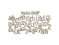 E657837 Troquel BIGZ XL Alfabeto juego de palabras by Tim Holtz Sizzix
