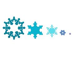 E657909 Set 3 troqueles FRAMELITS copo de nieve by Rachael Bright Sizzix