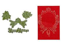 E657976 FRAMETLIS c-Texturz Sets-CHRISTMAS-ornamentos 2 juego 4 u by RACHAEL BRIGHT Sizzix