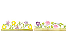 E658073 SIZZLITS Tiras Decorativas-FLOWERS VINES AND TREES-bordes tarjeta flores by SCRAPPY CAT articulo essential Sizzix