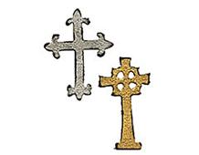 E658247 M S 2PK-HALLOWEEN-magnetico mini cruces ornamentadas juego 2 u by TIM HOLTZ Sizzix