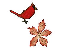 E658266 M S 2PK-CHRISTMAS-magnetic setmini cardenal poinsettia juego 2 u by TIM HOLTZ Sizzix