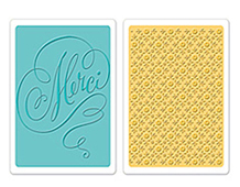 E658355 TEXTURED IMPRESSIONS-FLOWERS TREES VINES-Merci Printer s Ornament Set BY BRENDA WALTON Sizzix