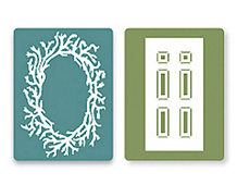 E658430 TEXTURED IMPRESSIONS-FLOWERS TREES VINES-Door Wreath Set BY SUSAN TIERNEY COCKBURN Sizzix