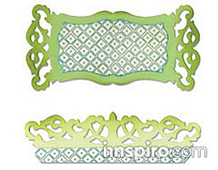 E658475 SIZZLITS-FLOWERS TREES VINES-Label Edge Scrollwork BY RACHEL BRIGHT Sizzix