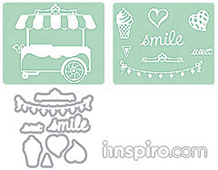 E658477 FRAMETLIS c-Texturz Sets-HOLIDAY TRAVEL- Sweet Shoppe Set BY RACHEL BRIGHT Sizzix