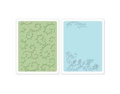E658485 Set placas textura TEXTURED IMPRESSIONS Garden by Rachel Bright Sizzix