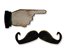 E658562 M S 2PK-HOLIDAY TRAVEL-Mini Mustache Pointed Finger BY TIM HOLTZ Sizzix