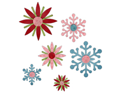 E658616 Tiras decorativas SIZZLITS Winter elements by Paula Pascual Sizzix
