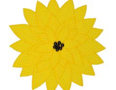 E658631 Troquel BIGZ especial quilting Flower sunflower 2 Sizzix