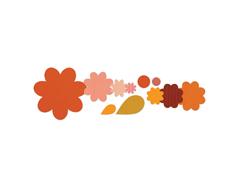 E658692 Set 11 troqueles FRAMELITS Flower layers leaf by Stephanie Barnard Sizzix