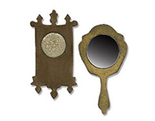 E658724 MOVERS SHAPERS-BASIC SHAPES- Set 2PK - Mini Mirror Wall Clock by TIM HOLTZ ALTERATIONS Sizzix