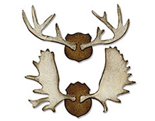 E658762 BIGZ-CHRISTMAS-Trophy Antlers by TIM HOLTZ ALTERATIONS Sizzix