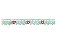 E658918 Tiras decorativas SIZZLITS Flower heart charms by Laced with love by Scrappy Cat Sizzix