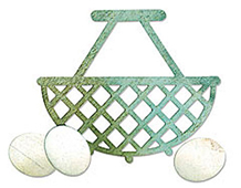 E658960 BIGZ-BASIC SHAPES-Egg Wire Basket by FRENCH FARMHOUSE BY JEN LONG PHILIPSEN Sizzix
