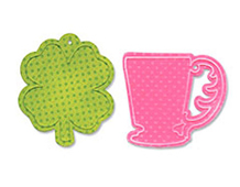 E659182 Set troquel BIGZ y TEXTURED IMPRESSIONS Cup clover tags by Where women cook Sizzix