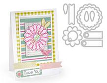 E659206 FRAMELITS c-Sello Sets--Set 10PK-Flowers Tags by STEPHANIE BARNARD Sizzix