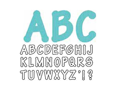 E659812 Troquel BIGZ especial quilting Alphabet Lollipop mayusculas by E L Smith 4 troqueles Sizzix