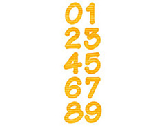 E659823 Troquel BIGZ especial quilting Alphabet numeros by E L Smith 2 troqueles Sizzix