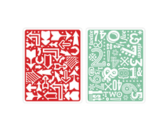 E659903 Set placas textura TEXTURED IMPRESSIONS Arrows numbers by Lori Whitlock Sizzix