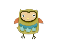 E659909 Set 9 troqueles THINLITS Owl by Debi Potter Sizzix