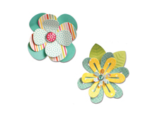 E659949 Set 7 troqueles THINLITS Simple flowers 2 by Lori Whitlock Sizzix