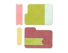 E659970 Set 6 troqueles FRAMELITS Tab cards by Paula Pascual Sizzix