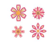 E659975 Set 14 troqueles THINLITS Flowers intricate by Paula Pascual Sizzix