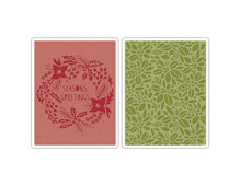 E660042 Set placas textura TEXTURE FADES Greetings greens by Tim Holtz Sizzix