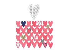 E660107 Set 7 troqueles THINLITS Card front heart by Jen Long Sizzix