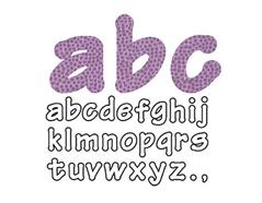 E660112 Troquel BIGZ especial quilting Alphabet Lollipop minusculas by E L Smith 4 troqueles Sizzix