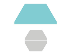 E660175 Troquel BIGZ especial quilting Medio hexagono Sizzix