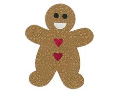 E660176 Troquel BIGZ L especial quilting Gingerbread man by Rachael Bright Sizzix