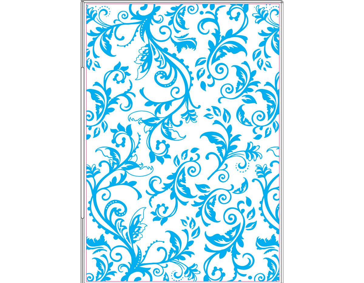 E660579 Placa de textura TEXTURED IMPRESSIONS PLUS Botanical swirls by Rachel Bright Sizzix