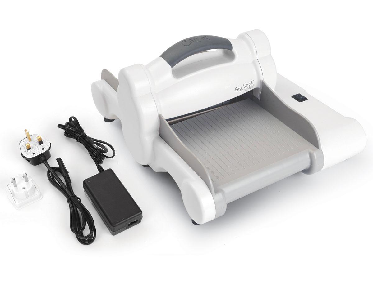 E660850 1-Maquina para troquelar electrica BIG SHOT EXPRESS White and Grey boca 15cm Sizzix