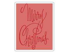 E660998 Placa de textura TEXTURE FADES Merry Christmas 2 by Tim Holtz Sizzix