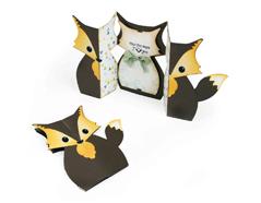 E661137 Set 6 troqueles THINLITS Card fox label Fold a Long by Jen Long Sizzix