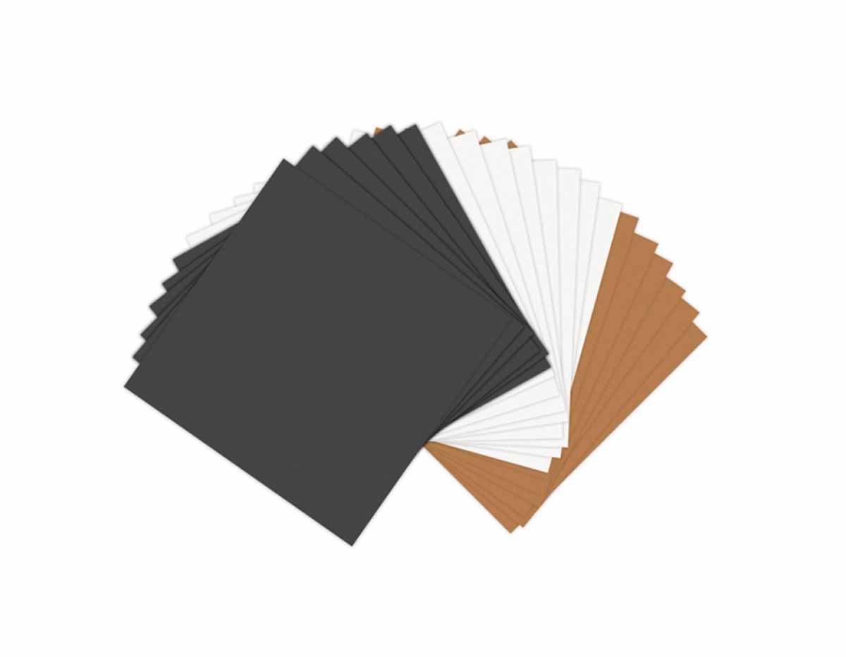E661146 Set 20 papeles imitacion piel colores basicos surtidos Sizzix