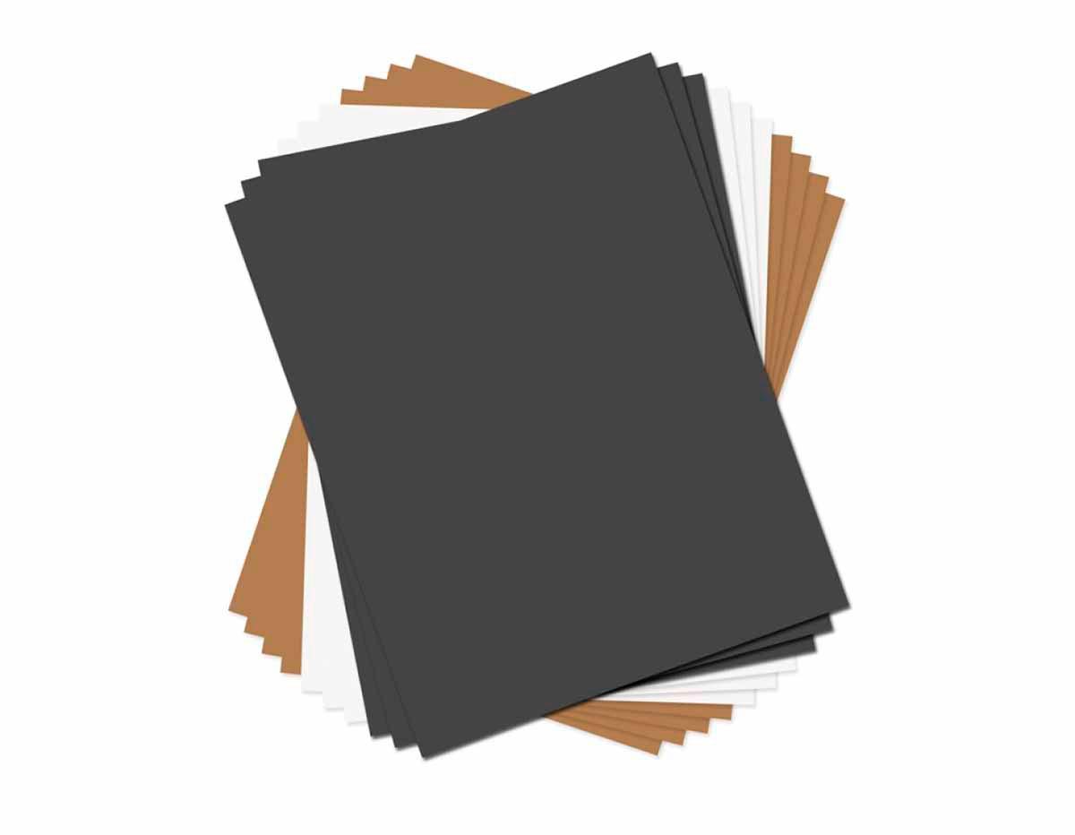 E661149 Set 10 papeles imitacion piel colores basicos surtidos Sizzix
