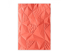 E661259 Placa de textura 3D TEXTURED IMPRESSIONS Jumbled triangles by Katelyn Lizardi Sizzix