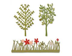 E661375 Set 3 troqueles THINLITS Green garden by Emily Atherton Sizzix